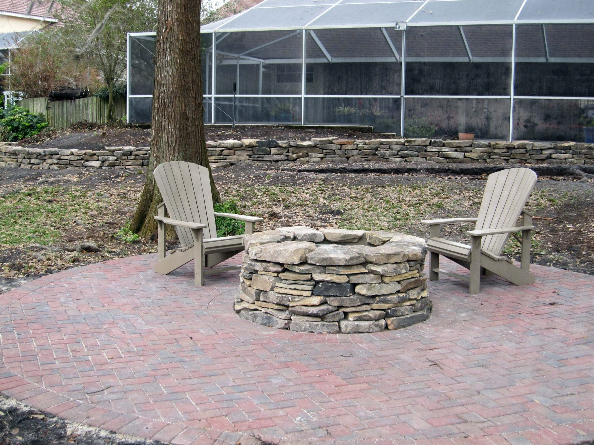 Custom Fire Pit by Watersapes Pool Remodeling Company