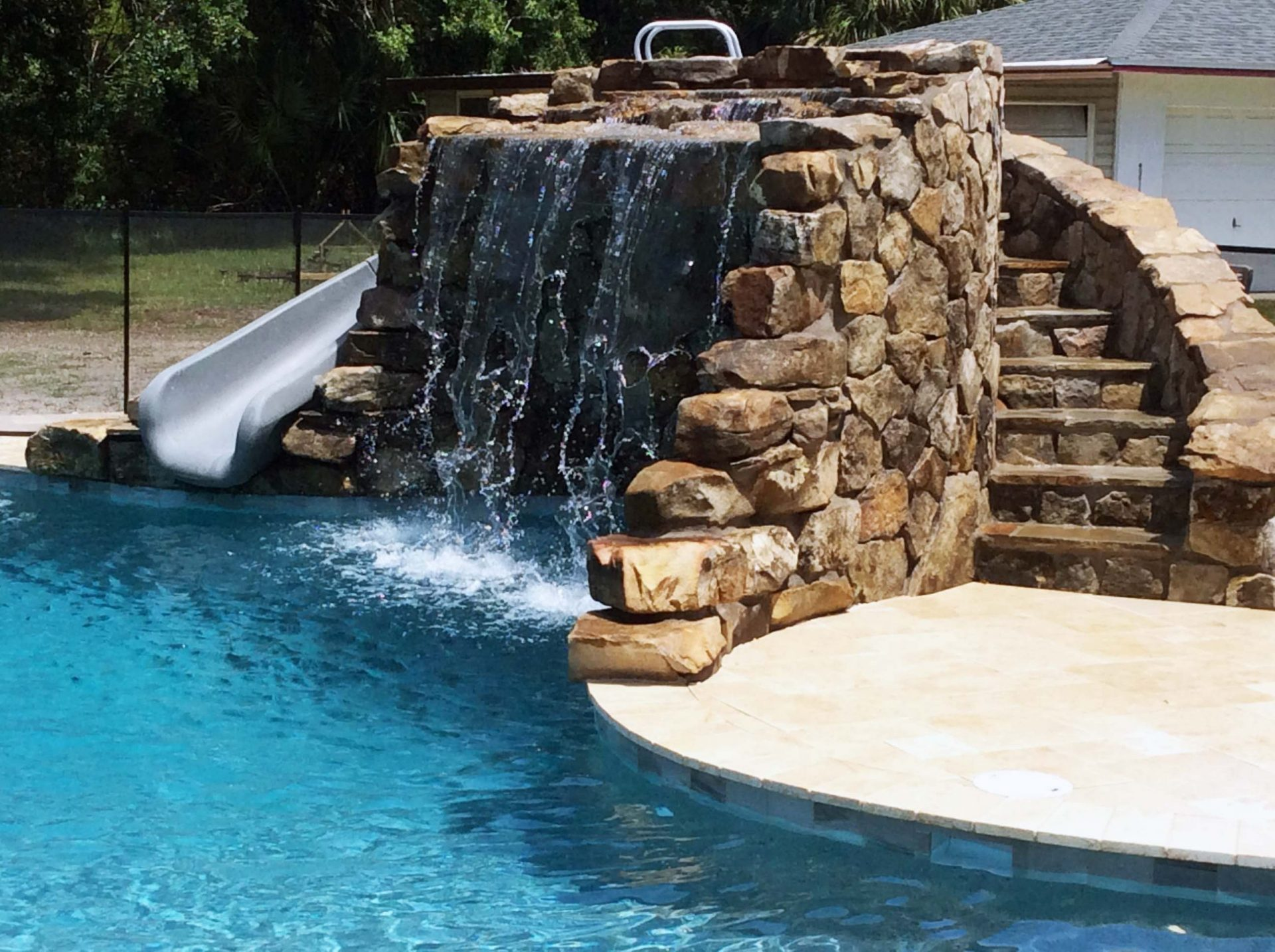 Custom Pool Grotto by Waterscapes
