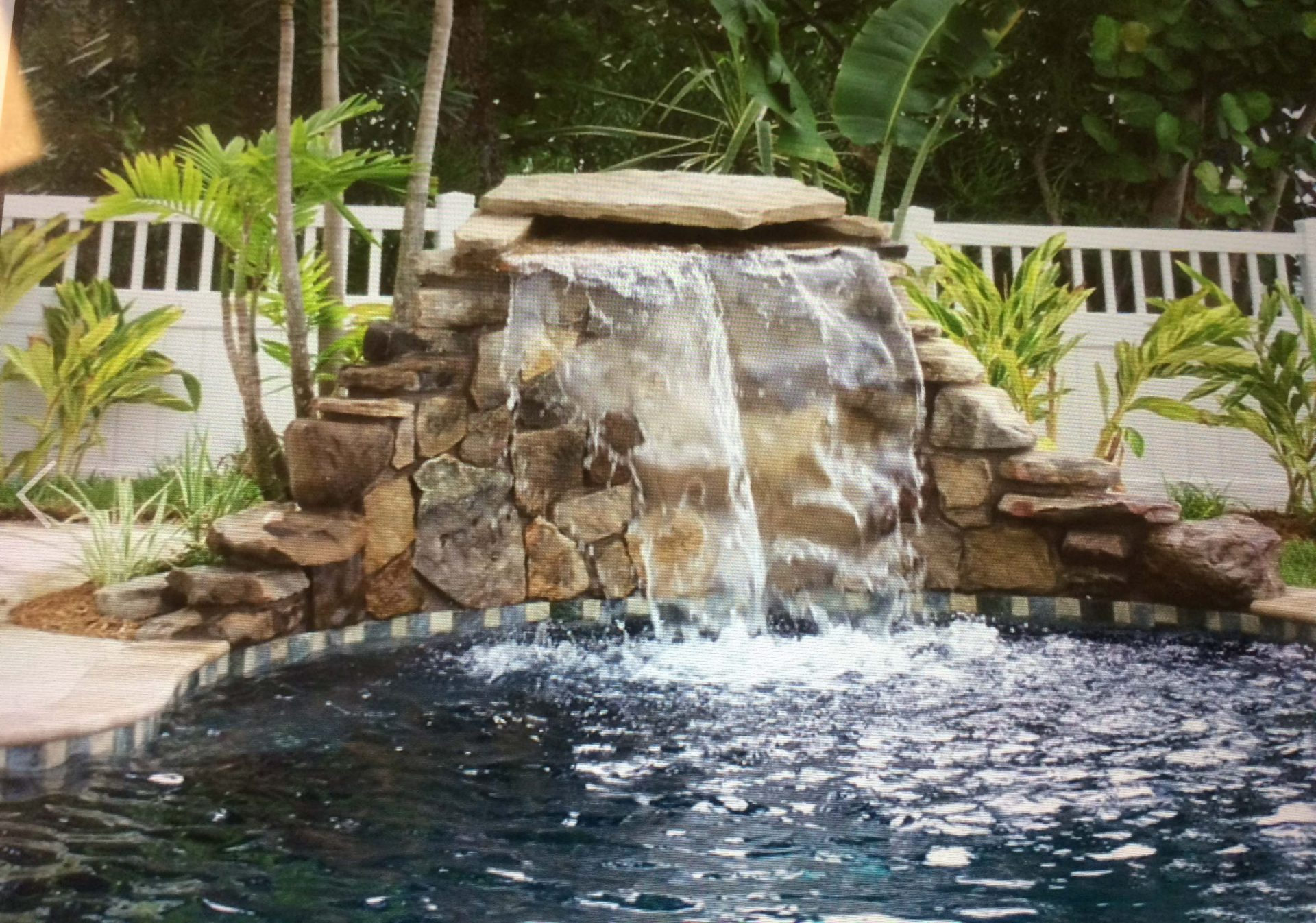 Custom Pool Waterfall by Waterscapes Inc. 15